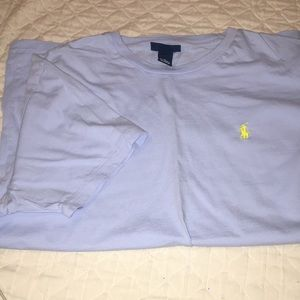 SHORT SLEEVE POLO TEE BLUE AND YELLOW